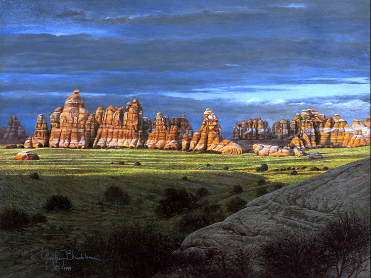 R. Geoffrey Blackburn Desert Spires oil painting