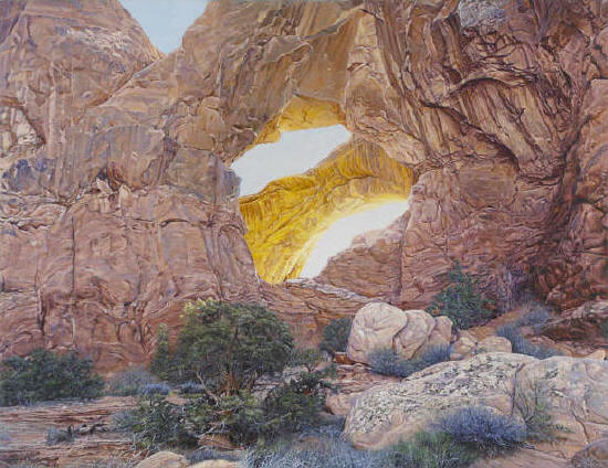 R. Geoffrey Blackburn Double Arch oil painting