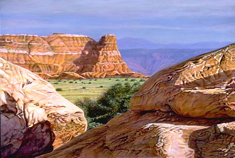 R. Geoffrey Blackburn High Desert Summer oil painting