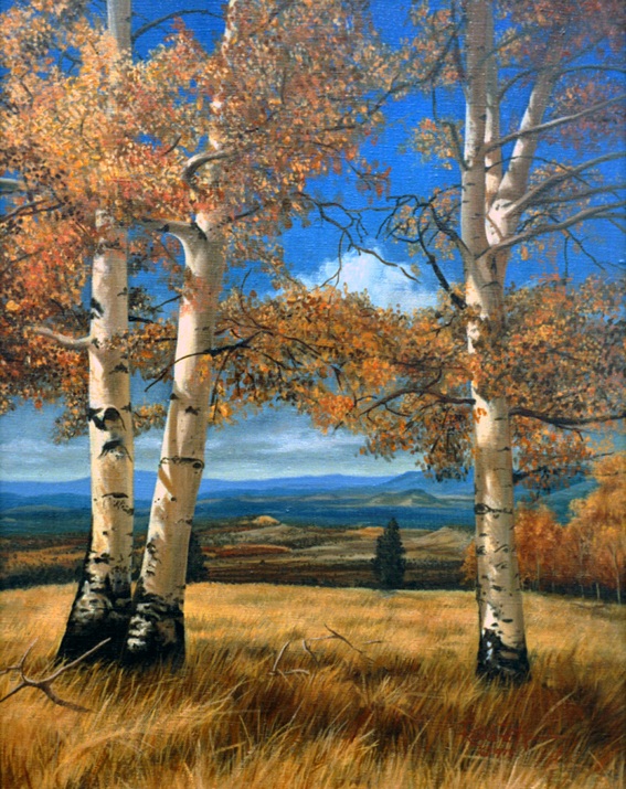 R. Geoffrey Blackburn Moab Autumn oil painting