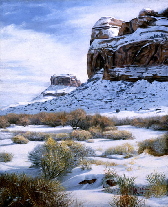 R. Geoffrey Blackburn Moab Blues oil painting