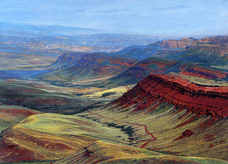 R. Geoffrey Blackburn Red Canyon, Lander oil painting