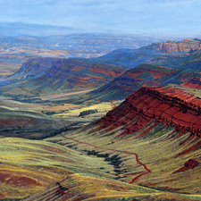 "R. Geoffrey Blackburn""Red Canyon, Lander"" oil painting index"