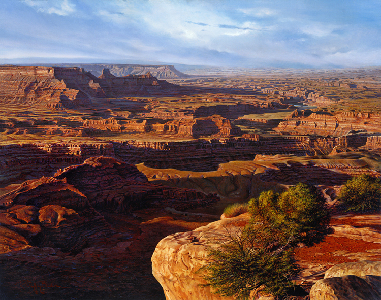 R. Geoffrey Blackburn Red Canyons oil painting