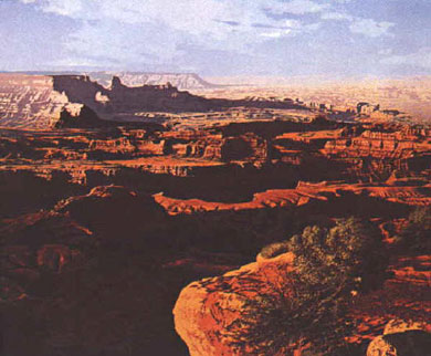 R. Geoffrey Blackburn Red Canyons serigraph