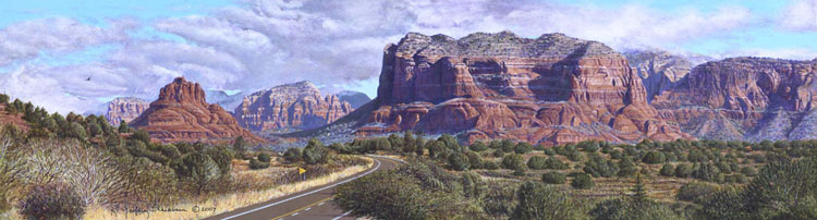 R. Geoffrey Blackburn Road to Sedona oil painting
