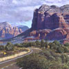 "R. Geoffrey Blackburn""Road to Sedona"" oil painting index"