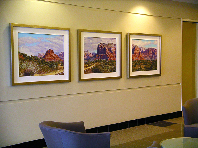 R. Geoffrey Blackburn Road to Sedona Triptych