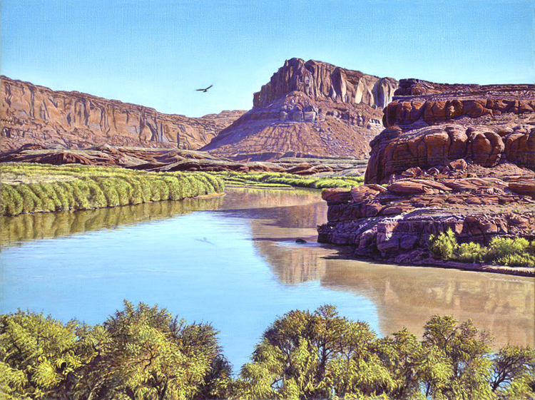 R. Geoffrey Blackburn Soaring the Colorado oil painting