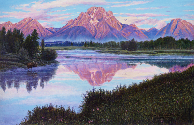 R. Geoffrey Blackburn Teton Dawn oil painting