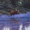 R. Geoffrey Blackburn Teton Dawn oil painting detail link