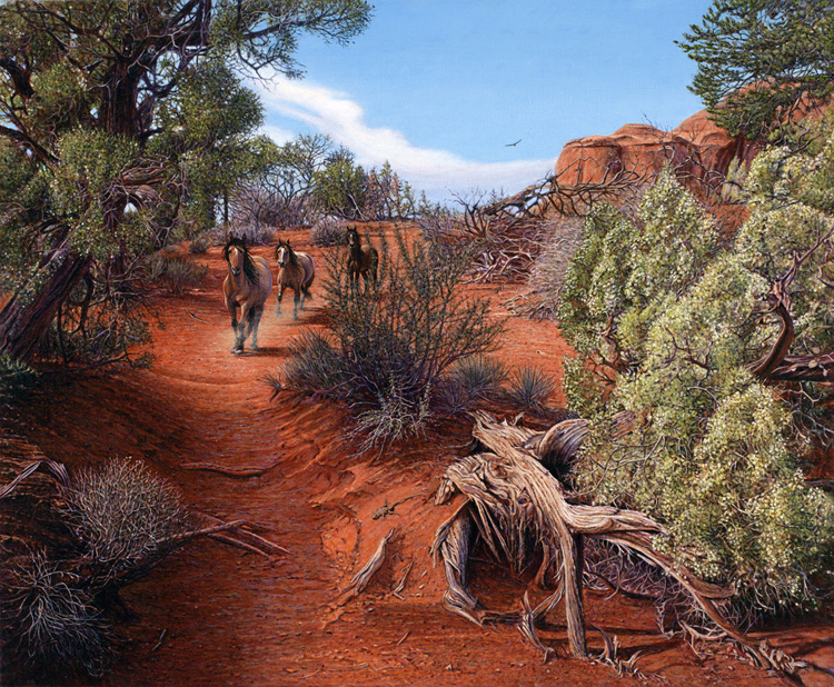 R. Geoffrey Blackburn Walking Wild oil painting