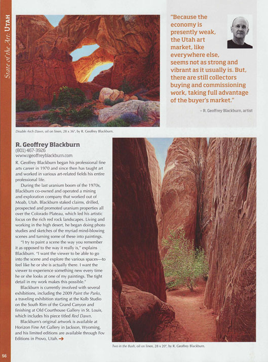 R. Geoffrey Blackburn Western Art Collector 11-2010