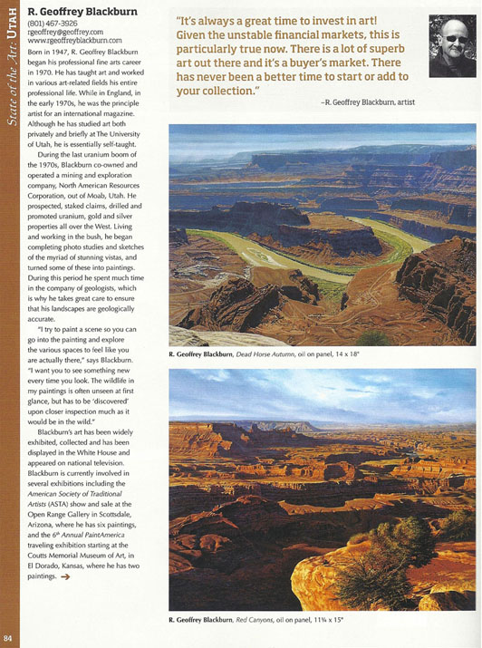 R. Geoffrey Blackburn-Western Art Collector  Oct 2012