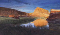 R Geoffrey Blackburn canyons paintings: Twilight on the Colorado