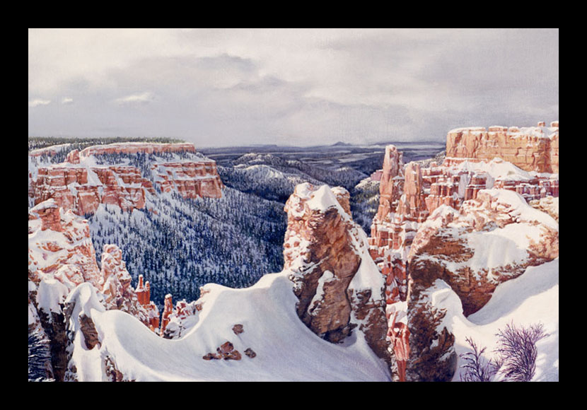 "R. Geoffrey Blackburn""Bryce Canyon"" oil painting"