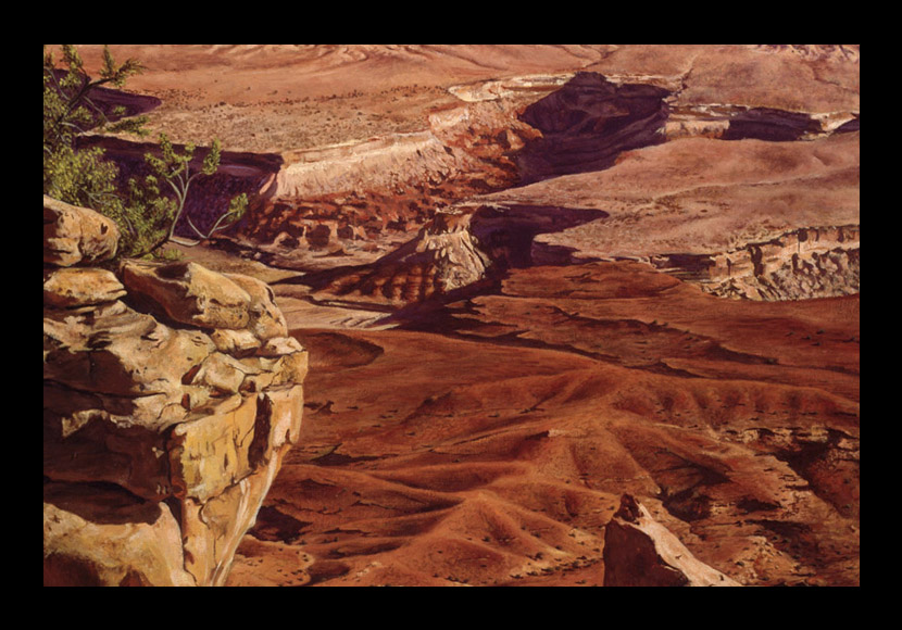 "R. Geoffrey Blackburn ""Desert Canyons"" oil painting"