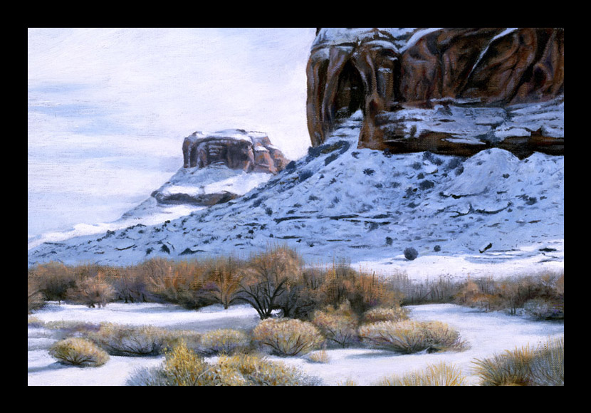"R. Geoffrey Blackburn""Moab Blues"" oil painting"
