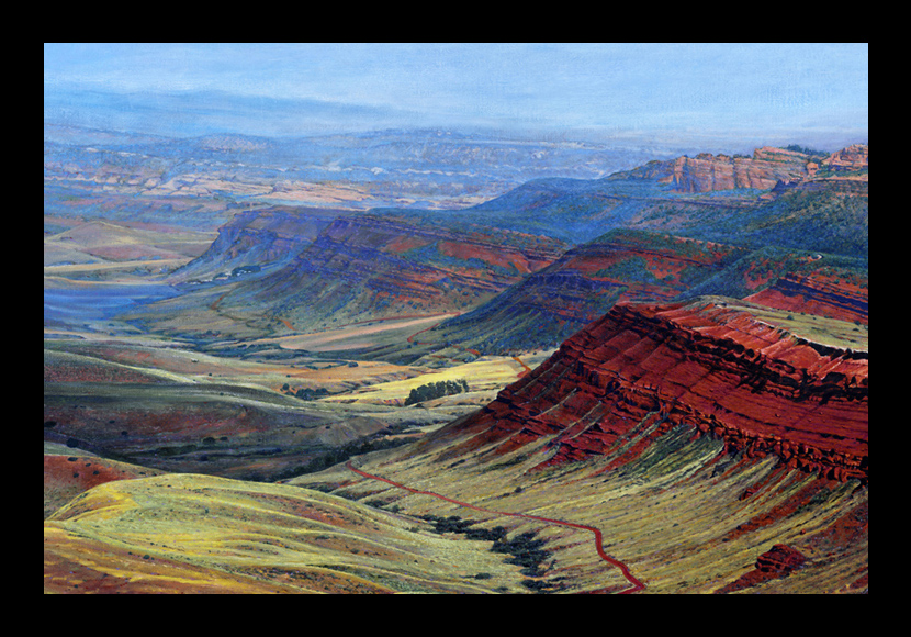"R. Geoffrey Blackburn""Red Canyon, Lander"" oil painting"