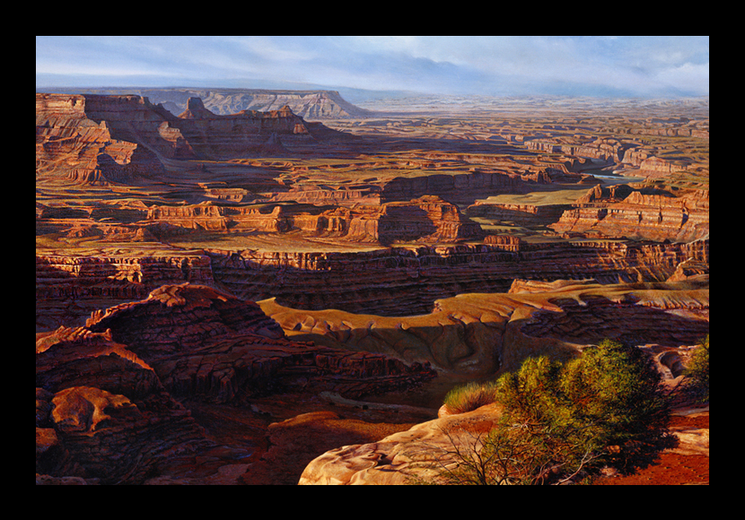 "R. Geoffrey Blackburn""Red Canyons"" oil painting"