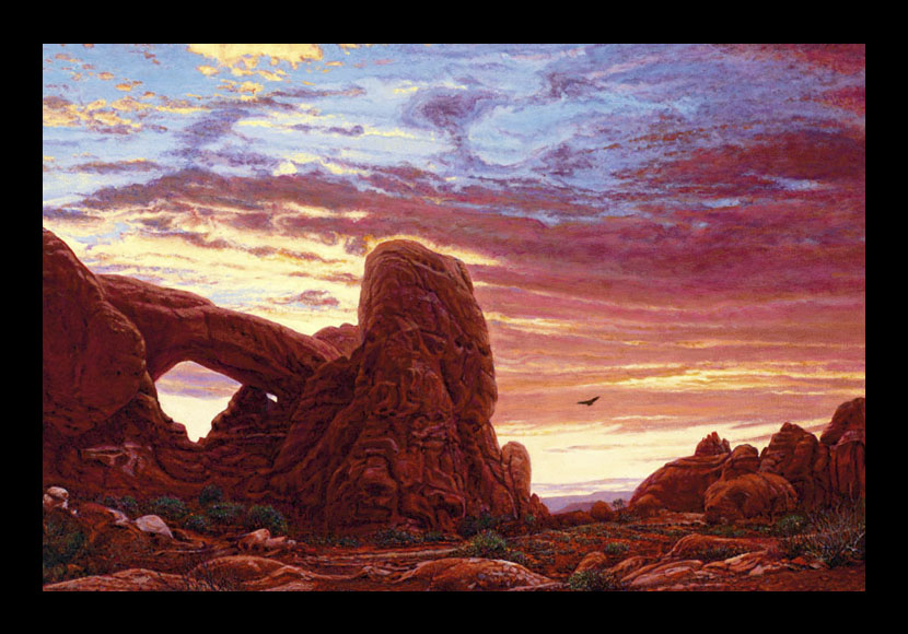 "R. Geoffrey Blackburn""Red Dawn"" oil painting"