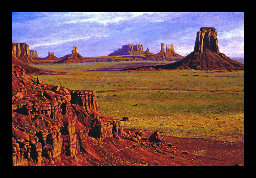"R. Geoffrey Blackburn ""Red Desert"" oil painting"