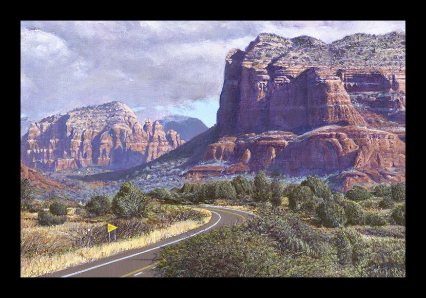 "R. Geoffrey Blackburn ""Road to Sedona"" oil painting"