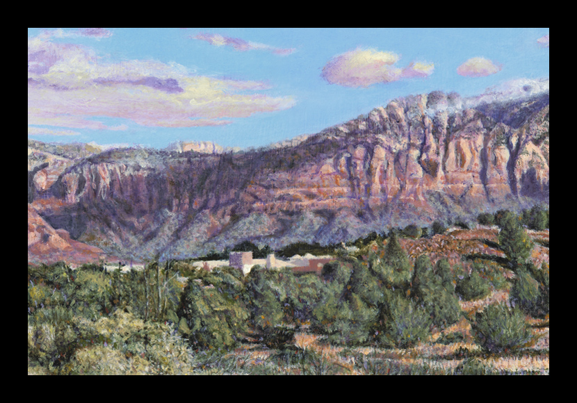 "R. Geoffrey Blackburn""Sedona Burbsm"" oil painting"