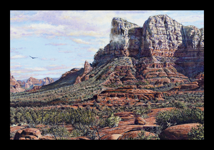 "R. Geoffrey Blackburn ""Sedona Morning"" oil painting"