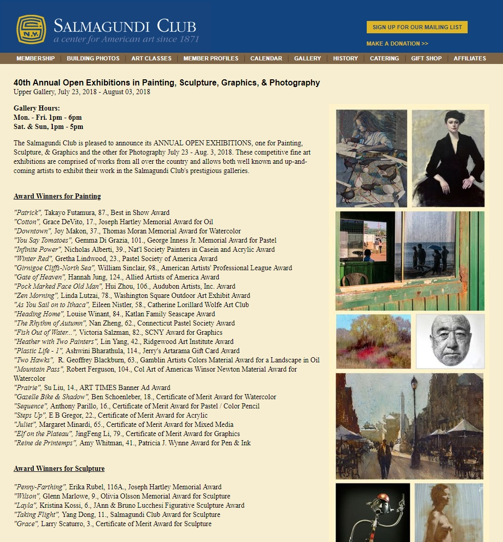 R. Geoffrey Blackburn Salmagundi Club Winners
