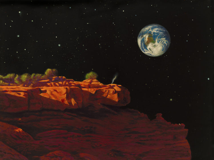 R. Geoffrey Blackburn Space Paintings-Homesick Miners-space_paintings_2