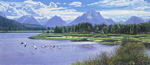 R Geoffrey Blackburn-Tetons oil painting 0