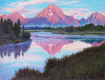 R Geoffrey Blackburn-Tetons oil painting 1